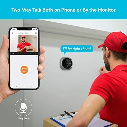 Laview Wireless Video Doorbell Wi Fi Door Bell Camera Peephole Camera With Led Touch Screen