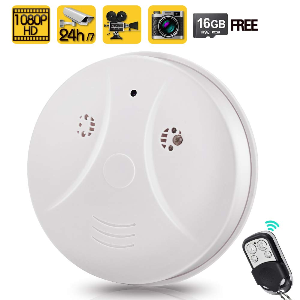 Toughsty 16gb 1080p Hd Home Security Camera Recorder Smoke