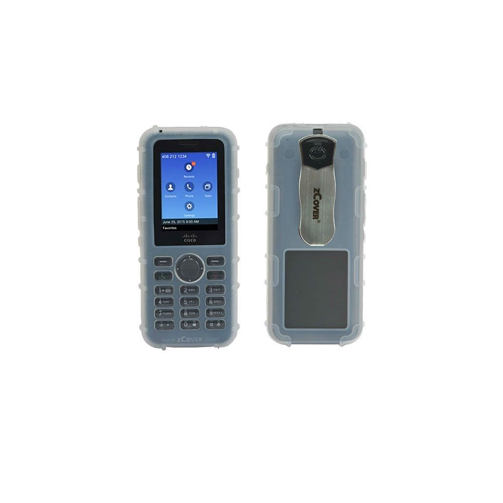 zCover CI821HJN Dock-in-Case Ruggedized Silicone Case with Universal Metal  Belt Clip for Cisco 8821 Wireless IP Phone Clear Voip Phone and Device