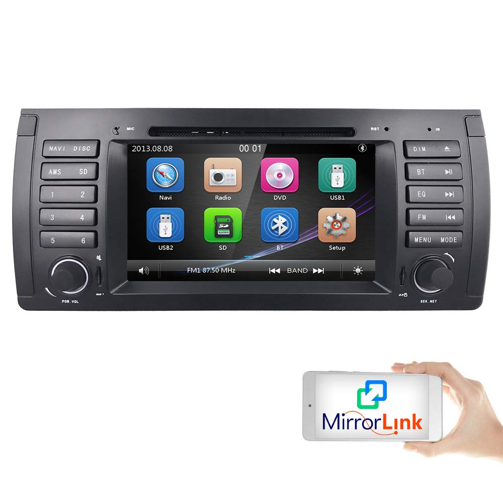 hizpo Car DVD Player in Dash GPS Radio Stereo 7 Inch 1 Din Multimedia Touch  Screen Bluetooth 4 0 Sub Volume Control Car Stereo with GPS and Bluetooth