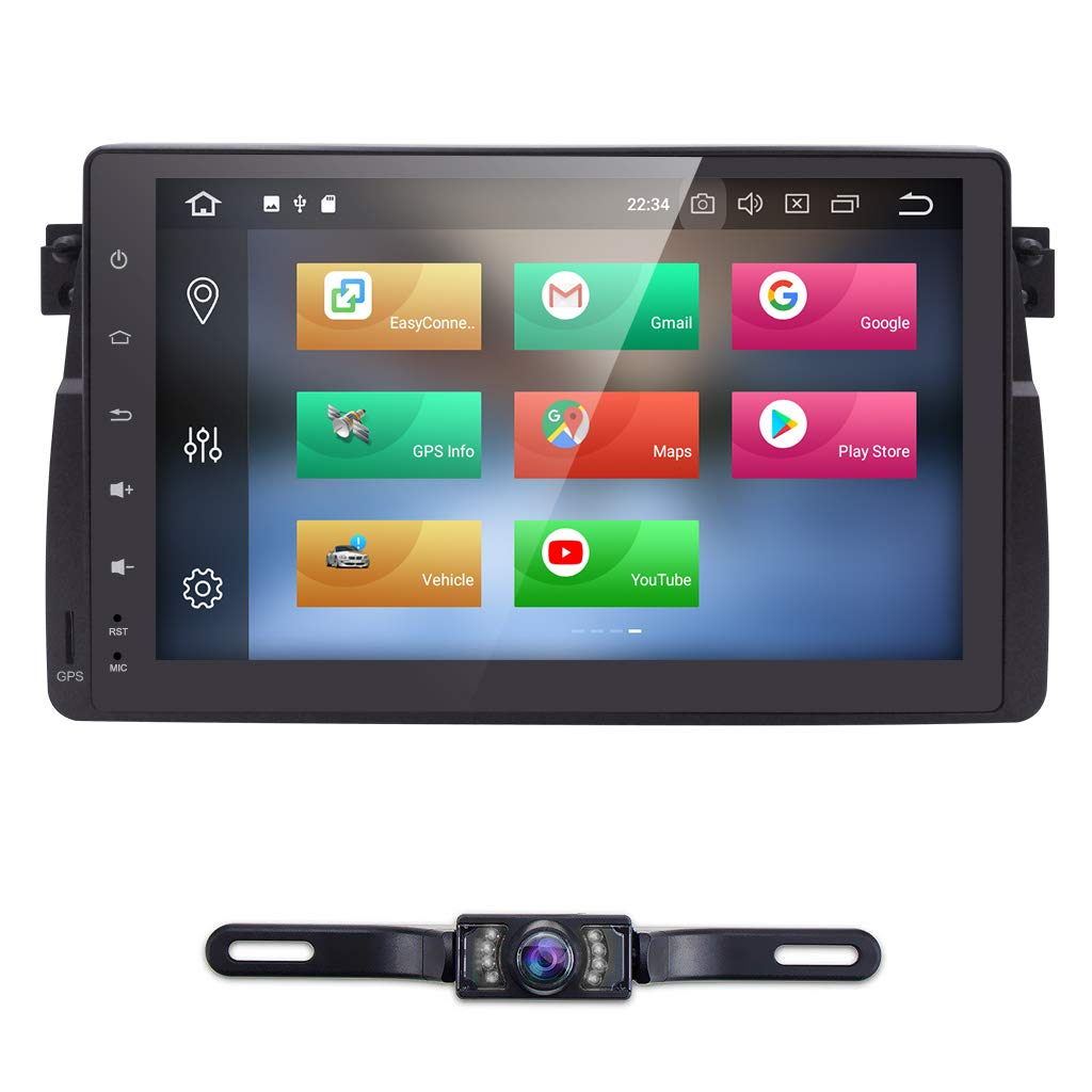 Android 8.1 Car Stereo Video Receiver Radio GPS Navi Steering Wheel Control WiFi Bluetooth hizpo 7 Inch Single Din Car Stereo Radio Fit f or BMW E46 M3 Rover 75 MG ZT 1998-2005