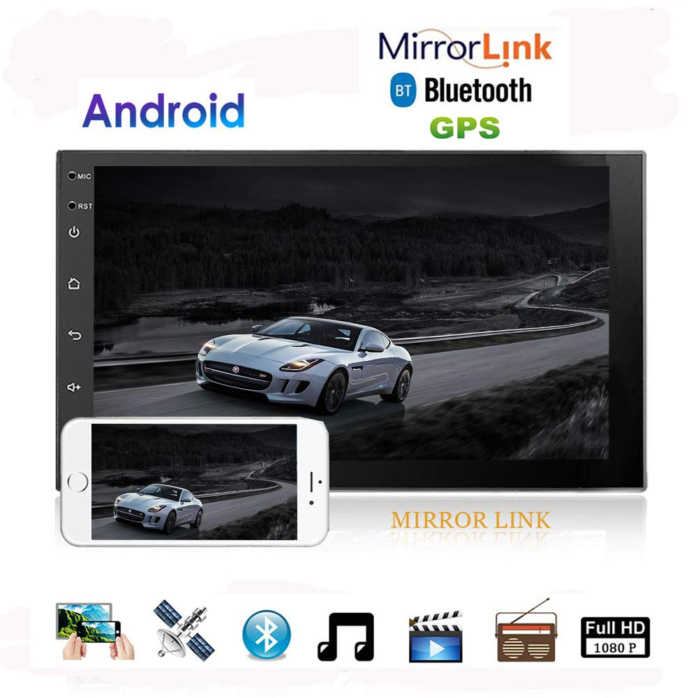 Hikity Android Car Stereo Gps Navigation Double Din 7 Inch Touch