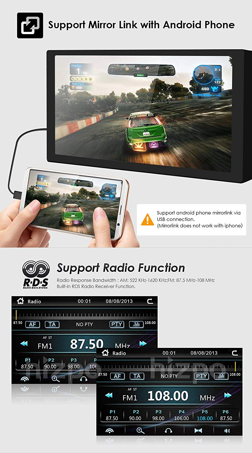 hizpo 7 Inch Car Stereo Radio DVD Player GPS Can-Bus Mirrorlink Bluetooth  OBD2 Multi Touch Screen for Benz E-Class W211 CLS W219 CLK W209 G W463 CLS