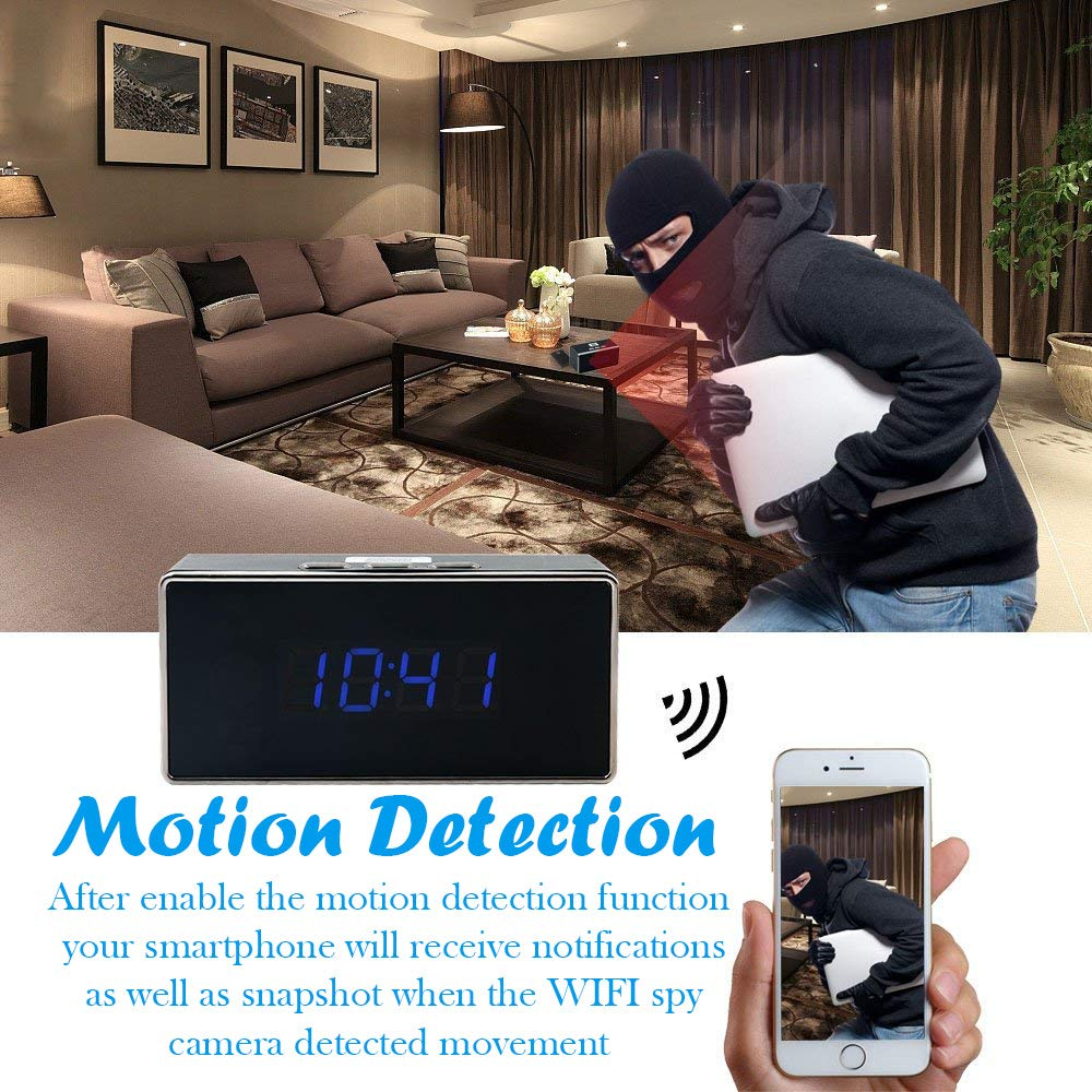 WiFi Spy Camera Table Clock   iPhone, Android and Windows   WiFi