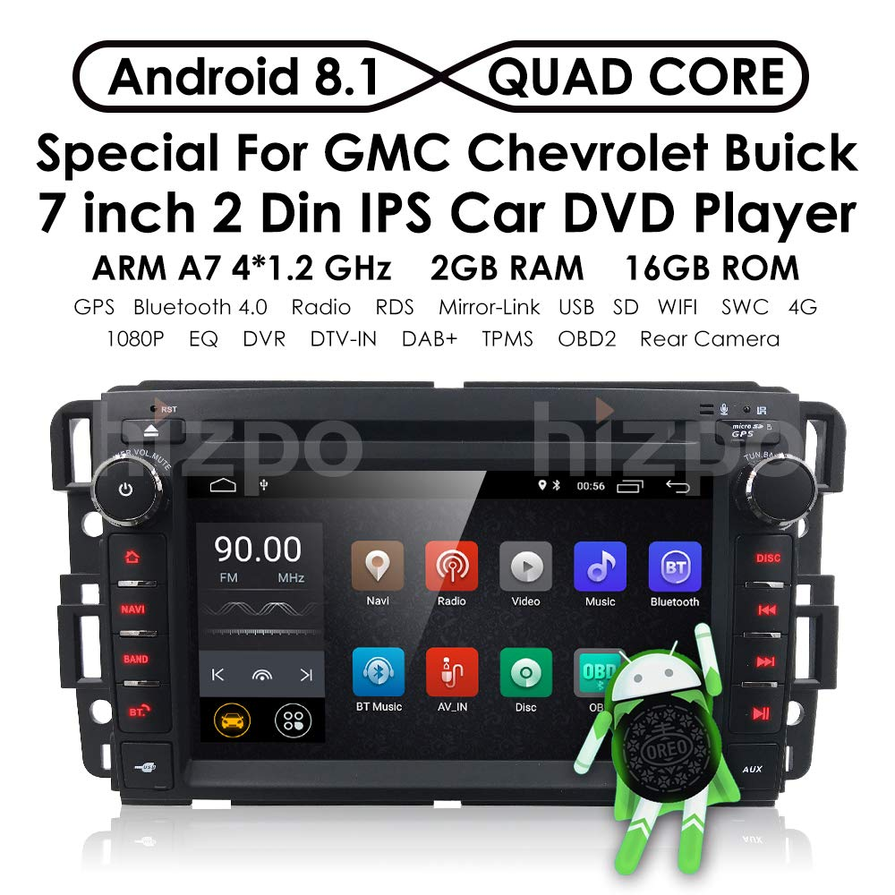 Android 8.1 Car Stereo for Chevy Silverado GMC Sierra ...